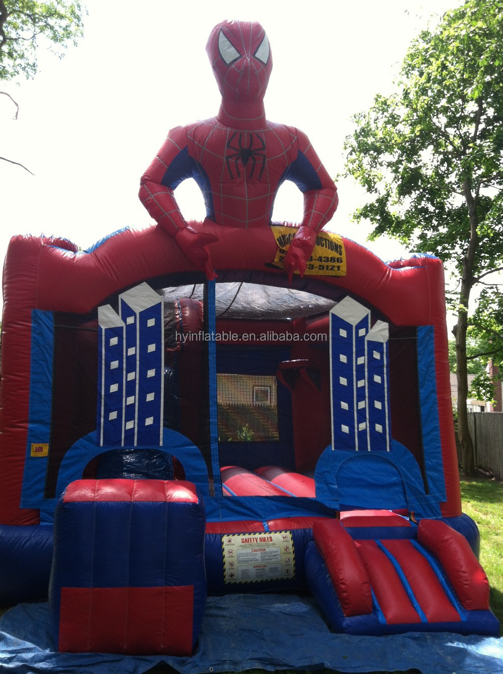 Best choice custom kids bouncers inflatable spiderman man for games