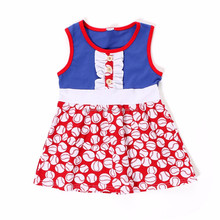 persnickety 2017 summer clothing baseball latest children frocks designs