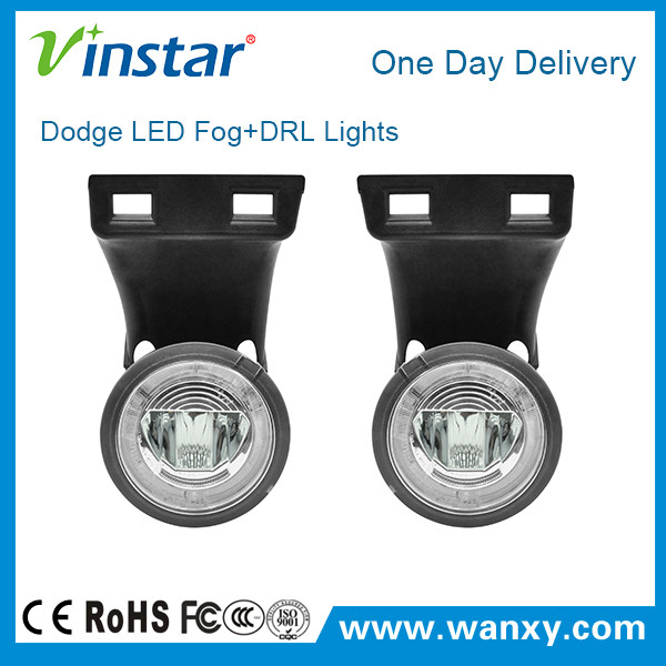 OE fitting car accessories plug and play led fog lamp super bright led drl for Dodge Ram 1500 E mark approved