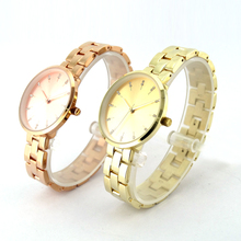 Hot New Style Stainless Steel Beautiful Fashion Gold Women Wrist Watch Ladies Watches