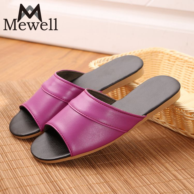 New Lovely Slipper, Cheap Full Size Couple Style Bedroom PU Leather Slippers