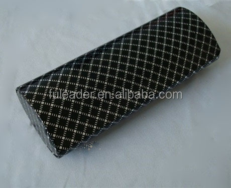 high quality PU leather cheap price handmade triangle folding glasses case