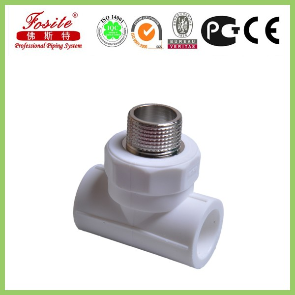 Durable brass insert pipe fitting ppr reducing tee