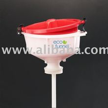 "8"" ECO Funnel with 2"" NPT fine thread cap adapter"