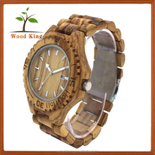Leisure Fashion Men'S Business Wood Watch With A Calendar Custom Wooden Details Quartz Watches