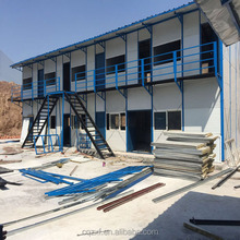 China light steel structure rock wool sandwich temporary house/office