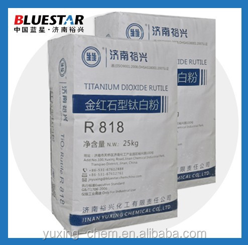 rutile titanium dioxide r818 for general use with inorganic Al, Si surface coating