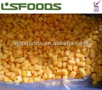 IQF yellow peach dices 15*15mm