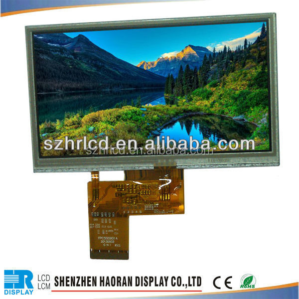 5 inch tft lcd display 40pin flat cable with RGB interface and lcd 480x272 resolution,800x480 resolution
