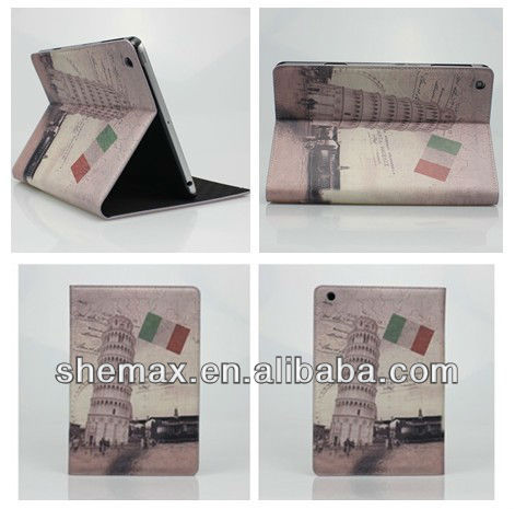 Pisa Tower Leather Case Cover Stand for Apple iPad Mini 2