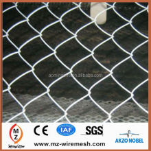 Factory PVC coated and galvaized chain link mesh for construction site fences and swimming pool fence alibaba china supplier