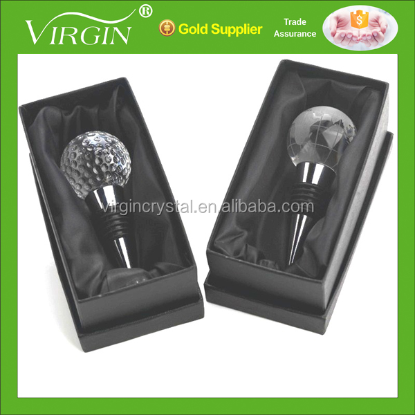 Crystal globe wine stopper golf ball wine stopper as party supplies