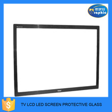 Round corner with fine polished tempered glass for display touch screen guard