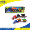 Friction Trailer with 2pcs animal car wholesale toy