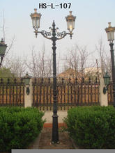 Cast Iron decorative garden lamp post/lamp pole/lighting pole