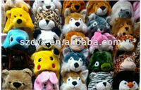 Unique funny adult animal winter hats plush long animal hats
