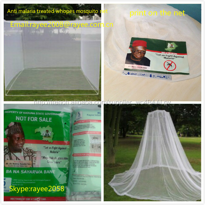 double bed with treated llins mosquito net dome 180x150x160cm to Nigeria,whopes moustiquaire