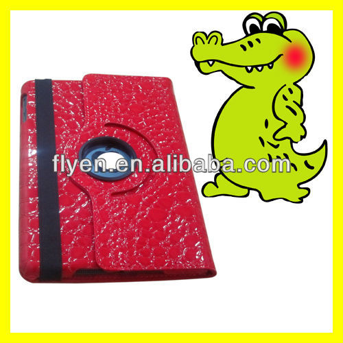 For Apple iPad Accessories 360 Rotating for Tablet PC Leather Case 360 Rotating Leather Smart Cover Alligator Hide Pattern