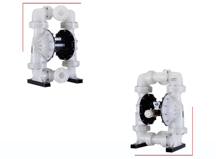 3 inch Polypropylene Chemical Air Operated Diaphragm Pump With Flange Connection