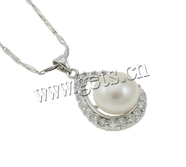 Freshwater Pearl Real Silver Thin Chain 747069
