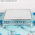 2017 hot popular decoration Silver crystal birthday metal cake stand,crystal cake decorations weddings decoration (CAKE-012)