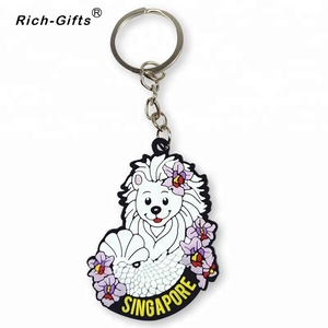 Promotional Gifts 3D Soft PVC Rubber Key Chain