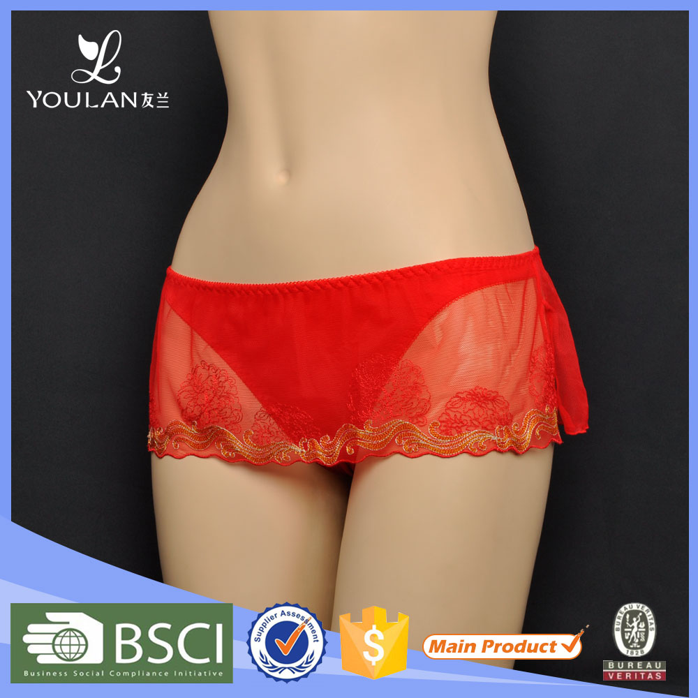 Made in China Charming Transparent Young Girl Ladies Panty Brand Names