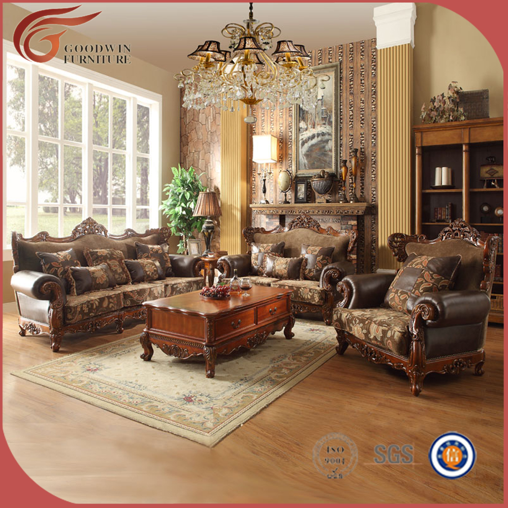 Living Room Sofa Set, <strong>Wood</strong> Carving Living Room Furniture, Whole Set <strong>oak</strong> sofa Furniture A132