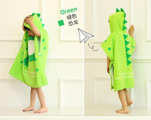 Hot sale cotton children's poncho towels hooded bath towels for toddlers