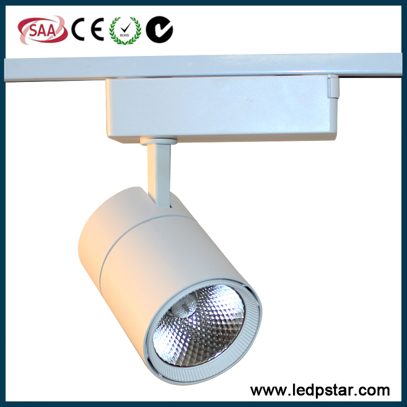10w 20w 30w white or black cob led track light COB LED track light 3000k 4000k 5000k 6500K 15 watt led track spotlamp