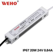 WEHO high efficiency IP67 LPV-20-24 ac/dc 20w 24v 0.83a waterproof led driver