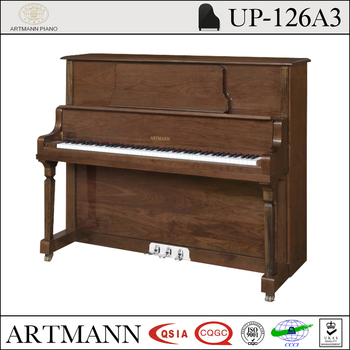 Shanghai Artmann walnut UP126A3 acoustic upright piano