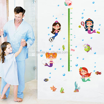 Undersea Mermaid Wall Stickers Removable Vinyl Decals Home Decor Poster Girls Kids Baby Sticker Wall Mural Art