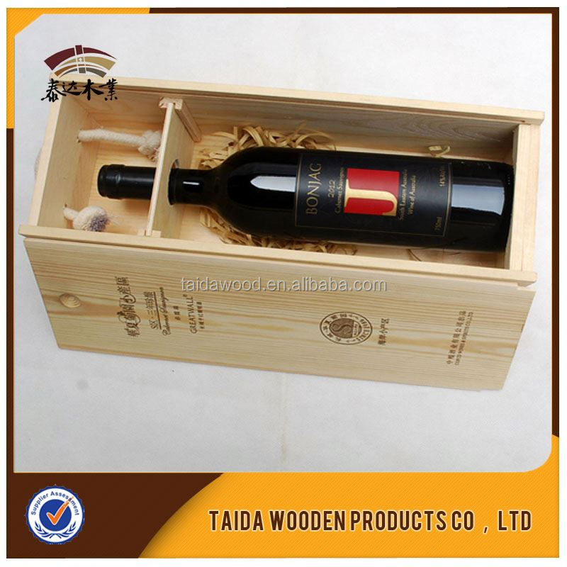 Factory Price Antique European Style 2015 Customized Design Blank Wood Wine Box