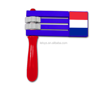 2016 Euro cup football fans plastic cheering rattle/ French noise maker