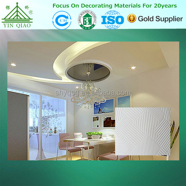 595*595mm Thermal Insulation Acoustic Pvc Gypsum Board Ceiling Tile