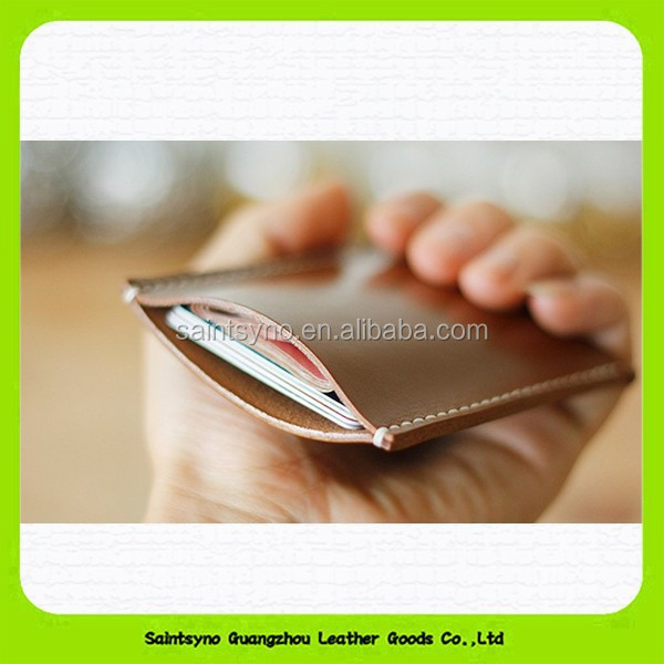 RFID blocking leather sleeve card credit business ID card holder 15209
