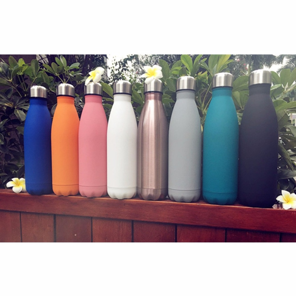 2017 hot product Colorful Stock Stainless Steel Bpa Free Sports Water Bottle