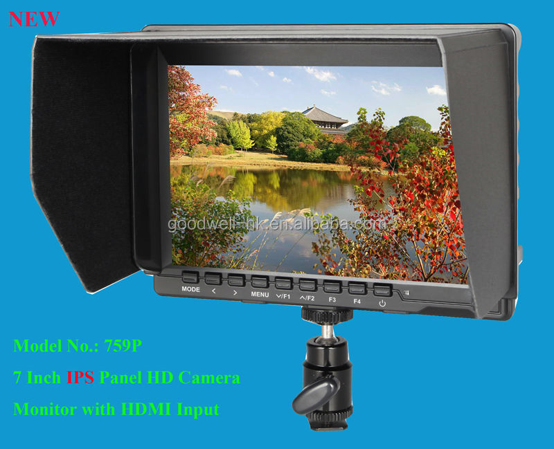 IPS panel 1280x 800 Wide View Angle 7 Inch HD LCD Monitor for Camera Mount