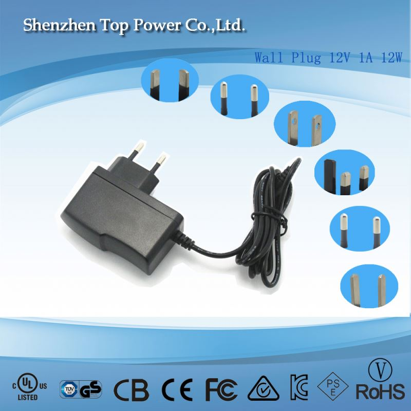 PSE UL CE GS 12v 1a Power Adapter 12v 5V 2A AC/DC Wall Charger Adapter Power Supply
