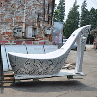 Artificial stone carving bathtub