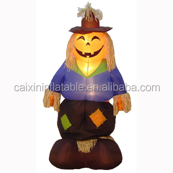 cheap Halloween decoration 4 foot inflatable pumpkin scarecrow