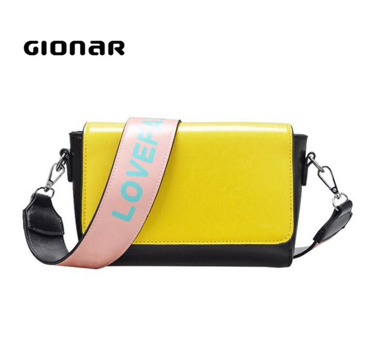 New Summer Cute Candy Color Long Broad Strip Shoulder Girls Small Hand Bag
