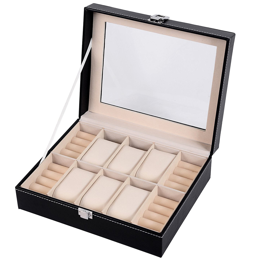 Factory supplied dirrectly guess women's wooden watch display box set