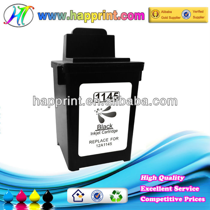 Hot Sale replacement ink cartridges for Lexmark 1145 12A1145 wholesale for use with printer model CJ-1000/1020/1100/2030/2050