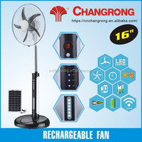 16 inch 12V battery fan standing rechargeable pedestal fan with remote