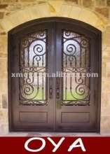 Used eyebrow arch top wrought iron front weather stripping exterior latest design doors grill designs