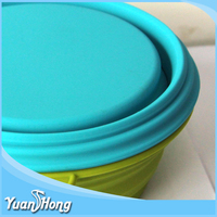 Colorfully friendly pet silicone foldable bowl