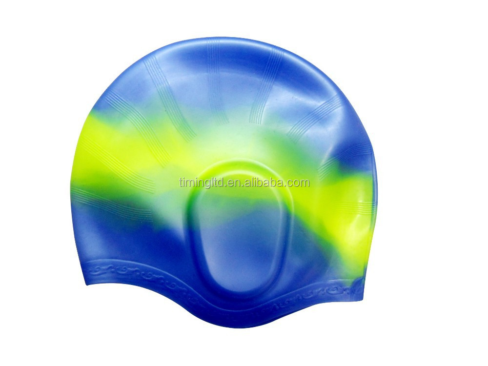 Customized silicon skid-proof swim cap/swimming cap/ bathing cap