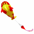 3D Cartoon Whale Software Kite /inflatable kites from the kite factory